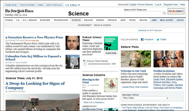 New York Times Science News